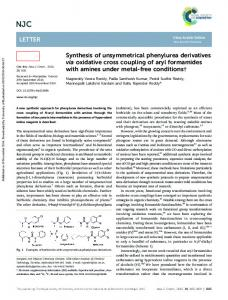 Synthesis of unsymmetrical phenylurea derivatives ...