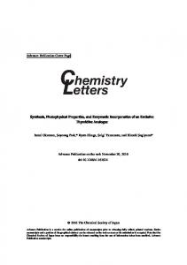 Synthesis, Photophysical Properties, and Enzymatic Incorporation of ...