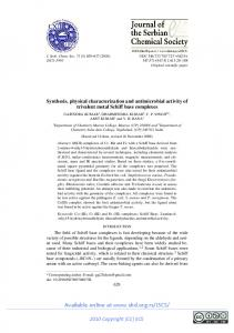 Synthesis, physical characterization and antimicrobial activity of ...