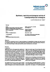 Synthesis, reactivity and biological activity of 5 ... - Semantic Scholar