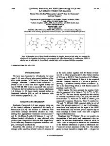 Synthesis, reactivity, and NMR spectroscopy of ... - Wiley Online Library
