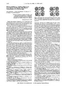 Synthesis, Single Crystal X-ray Structure, and ... - ACS Publications