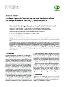 Synthesis, Spectral Characterization, and Antibacterial and Antifungal