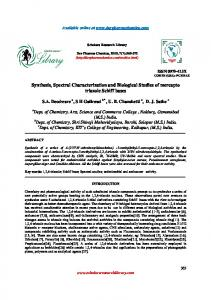 Synthesis, Spectral Characterization and Biological ...