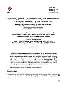 Synthesis, Spectral Characterization, and ... - Tubitak Journals