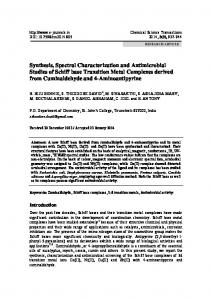 Synthesis, Spectral Characterization and
