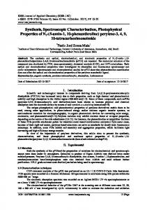 Synthesis, Spectroscopic Characterization ...