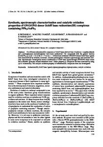 Synthesis, spectroscopic characterization and catalytic oxidation ...