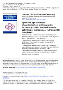 Synthesis, spectroscopic characterization