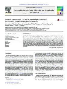 Synthesis, spectroscopic, DFT and in vitro biological