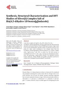 Synthesis, Structural Characterization and DFT Studies of Silver(I ...