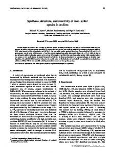 Synthesis, Structure, and Reactivity of Iron-Sulfur ... - Springer Link