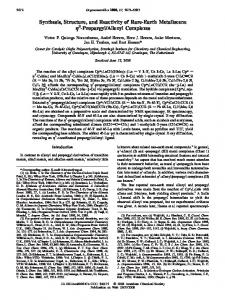 Synthesis, Structure, and Reactivity of Rare-Earth ... - ACS Publications
