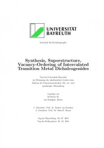 Synthesis, Superstructure, Vacancy-Ordering of ... - EPub Bayreuth
