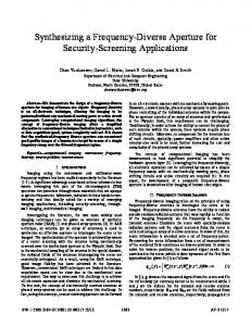Synthesizing a Frequency-Diverse Aperture for Security ... - IEEE Xplore