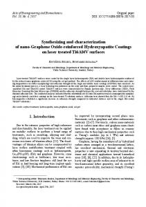 Synthesizing and characterization of nano-Graphene Oxide-reinforced ...