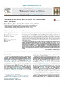 Synthesizing interpreted domain-specific models ... - Semantic Scholar