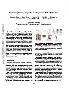 Synthesizing Training Images for Boosting Human 3D Pose Estimation