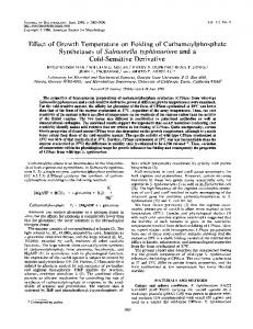 Synthetases of Salmonella typhimurium and a - Journal of Bacteriology