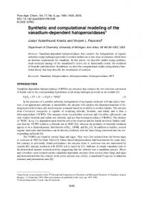 Synthetic and computational modeling of the vanadium ... - iupac