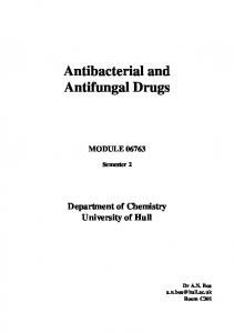 Synthetic antibacterial agents - Semantic Scholar
