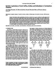 Synthetic Applications of Cyclic Sulfites, Sulfates and ...