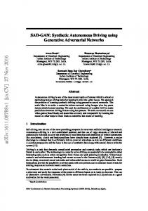 Synthetic Autonomous Driving using Generative Adversarial Networks