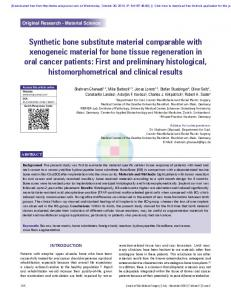 Synthetic bone substitute material comparable with ...