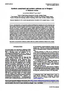 Synthetic cannabinoid and synthetic cathinone use in
