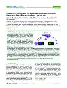 Synthetic Glycopolymers for Highly Efficient ... - ACS Publications