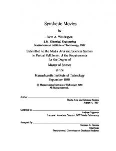 Synthetic Movies - Semantic Scholar