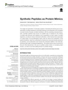 Synthetic Peptides as Protein Mimics - Frontiers