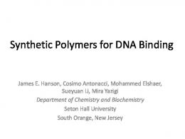 Synthetic Polymers for DNA Binding