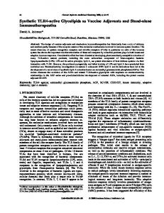 Synthetic TLR4-active Glycolipids as Vaccine ... - Ingenta Connect