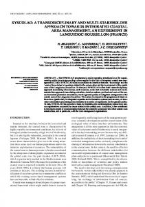 Syscolag: A transdisciplinary and multi ... - Archimer - Ifremer