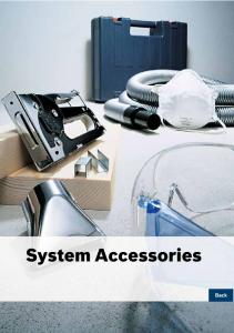 System Accessories - Bosch power tools