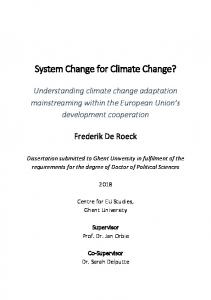 System Change for Climate Change?