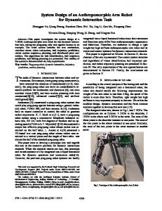 System Design of an Anthropomorphic Arm Robot for ... - IEEE Xplore