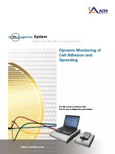 System Dynamic Monitoring of Cell Adhesion and Spreading