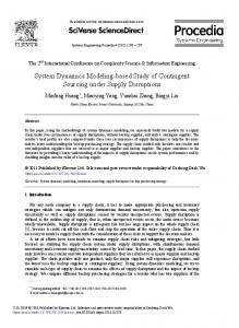 System Dynamics Modeling-based Study of ... - ScienceDirect