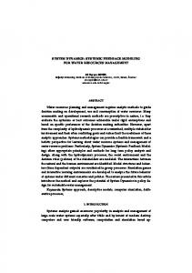 system dynamics: systemic feedback modeling for ...