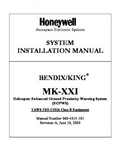 System Installation Manual - MK XXI EGPWS - Honeywell