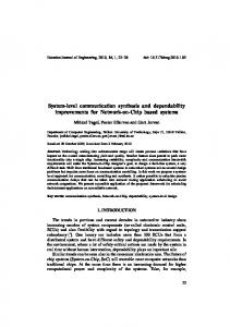 System-level communication synthesis and dependability ...