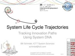 System Life Cycle Trajectories