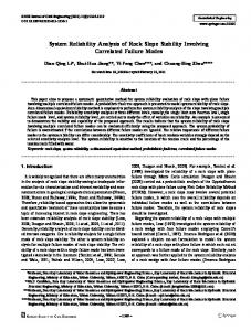 System Reliability Analysis of Rock Slope Stability Involving