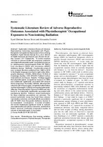 Systematic Literature Review of Adverse Reproductive Outcomes ...