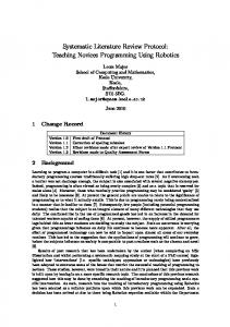 Systematic Literature Review Protocol: Teaching ... - Semantic Scholar