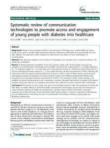 Systematic review of communication technologies