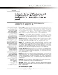 Systematic Review of Effectiveness and ... - Pain Physician