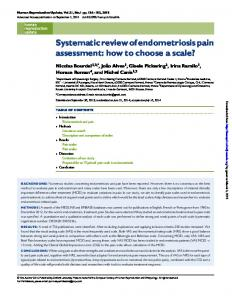 Systematic review of endometriosis pain assessment